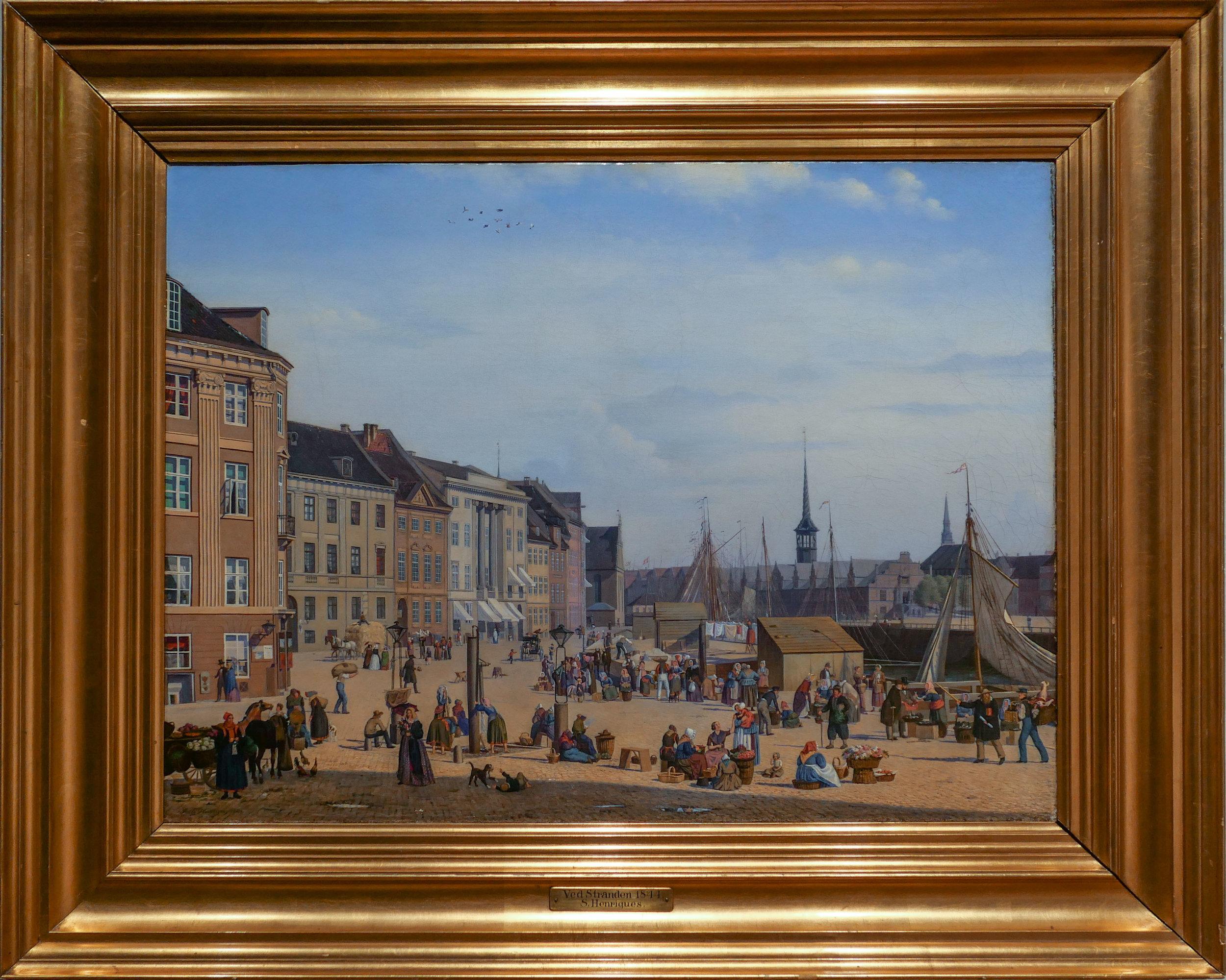 - Højbro Plads in Copenhagen 1844by Sally Henriques (1815-1866)