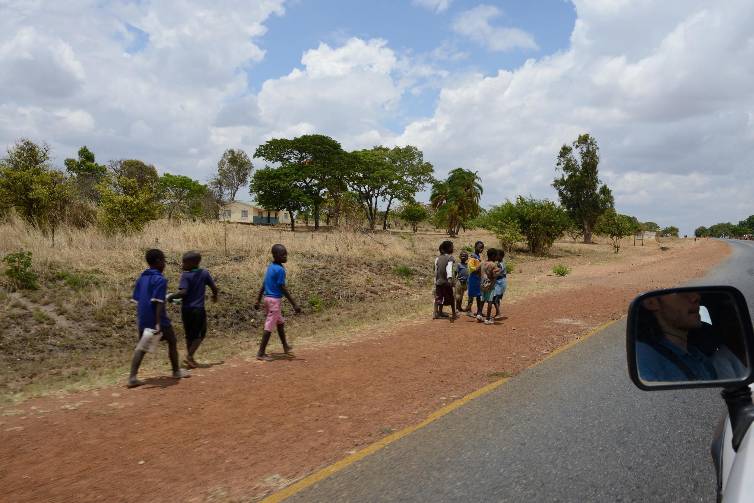 Malawian roads near Mzuzu