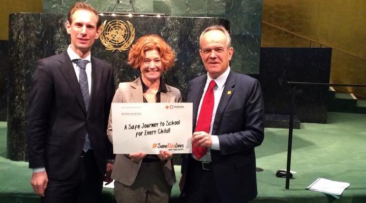 Floor Lieshout, Lotte Brondum and Dr Etienne Krug, at United Nations - 15 April 2016