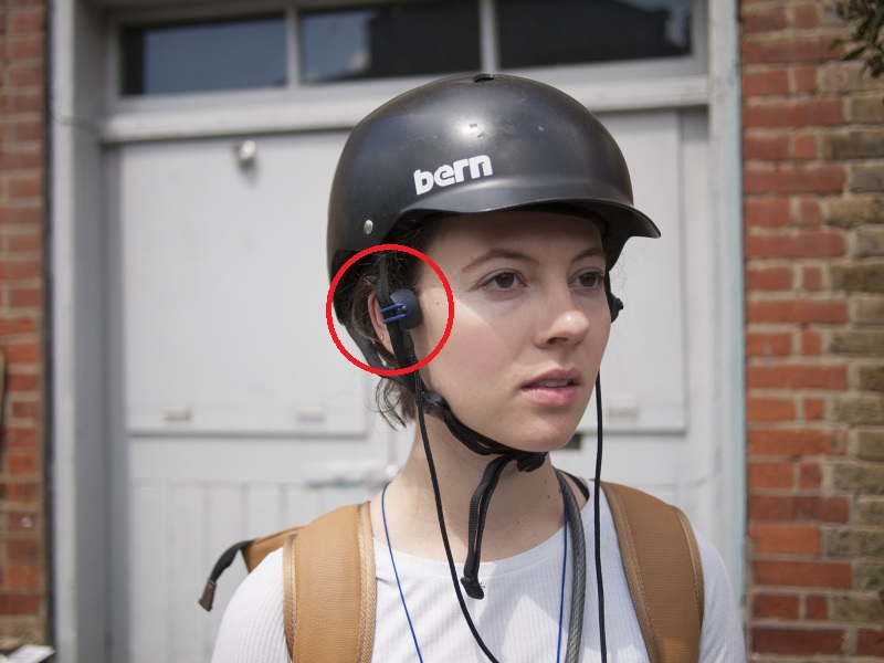 A pair of modular headphones using bone conduction audio designed specifically for cyclists.