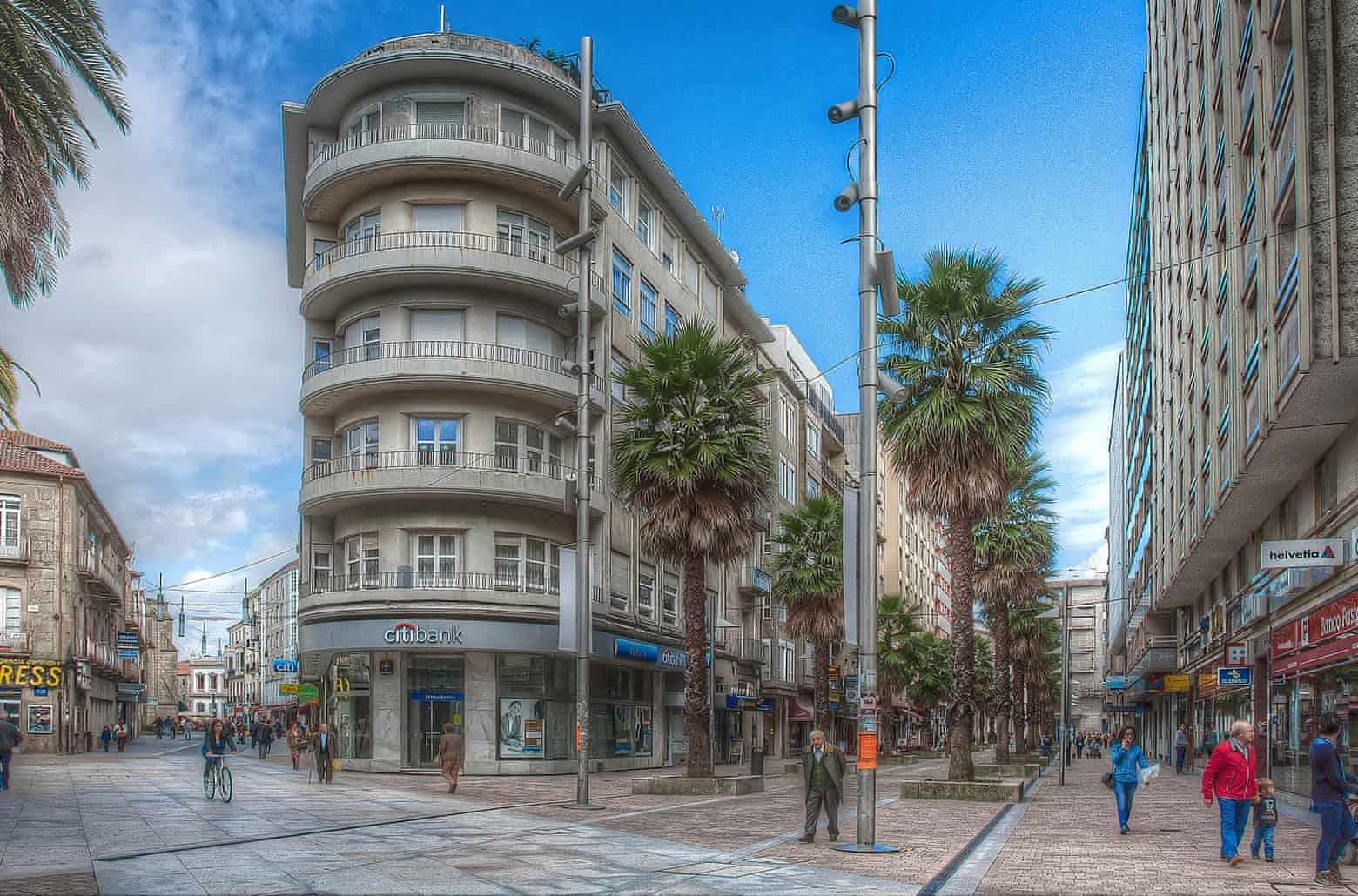 Central Pontevedra after the changes. Photograph: Luis Pereiro Gomez