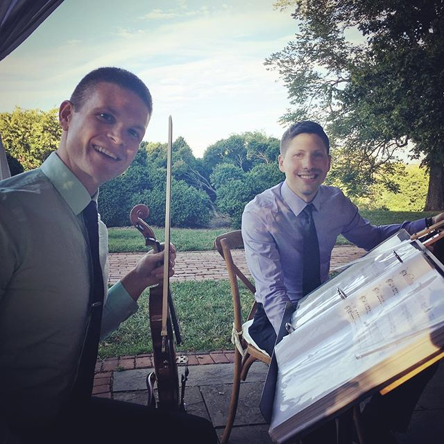 Ceremony and cocktails at the beautiful River Farm in Alexandria! #alexandriawedding #stringquartet #tworiverschambermusic #riverfarm