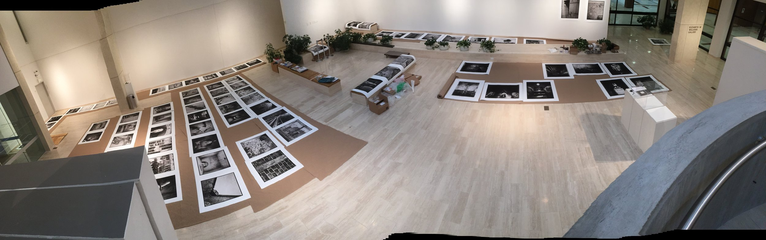 Installation in progress at Dyer Arts Center, 2014