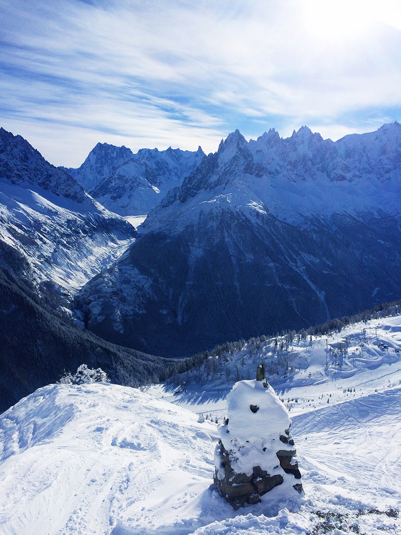 Lunch with a view Chamonix