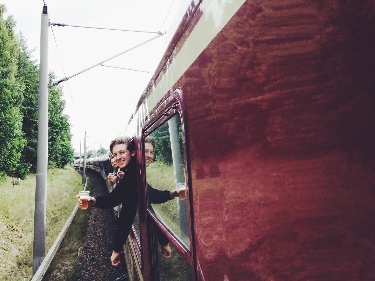 trivago on tour party train