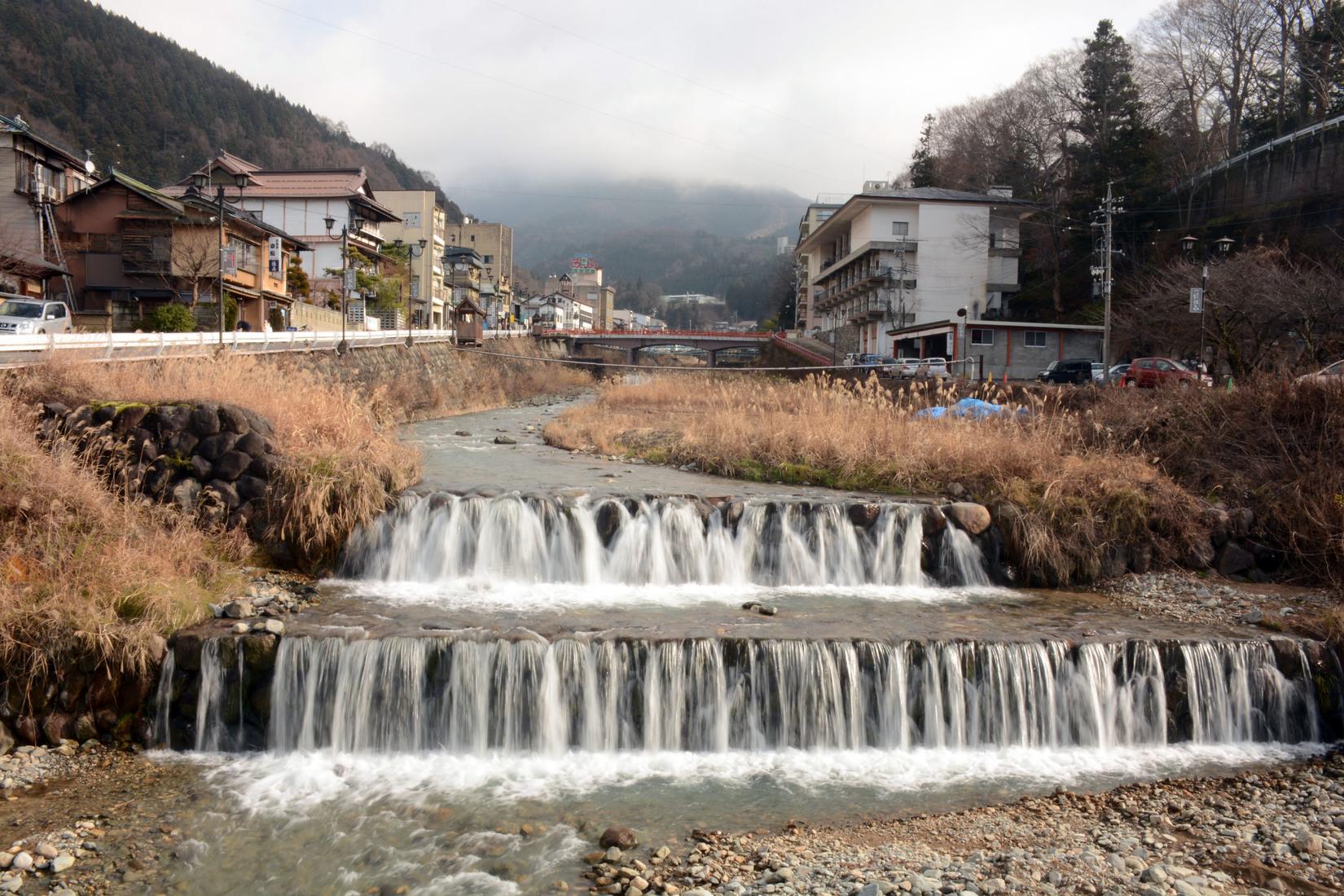 Shibu Onsen waterfall