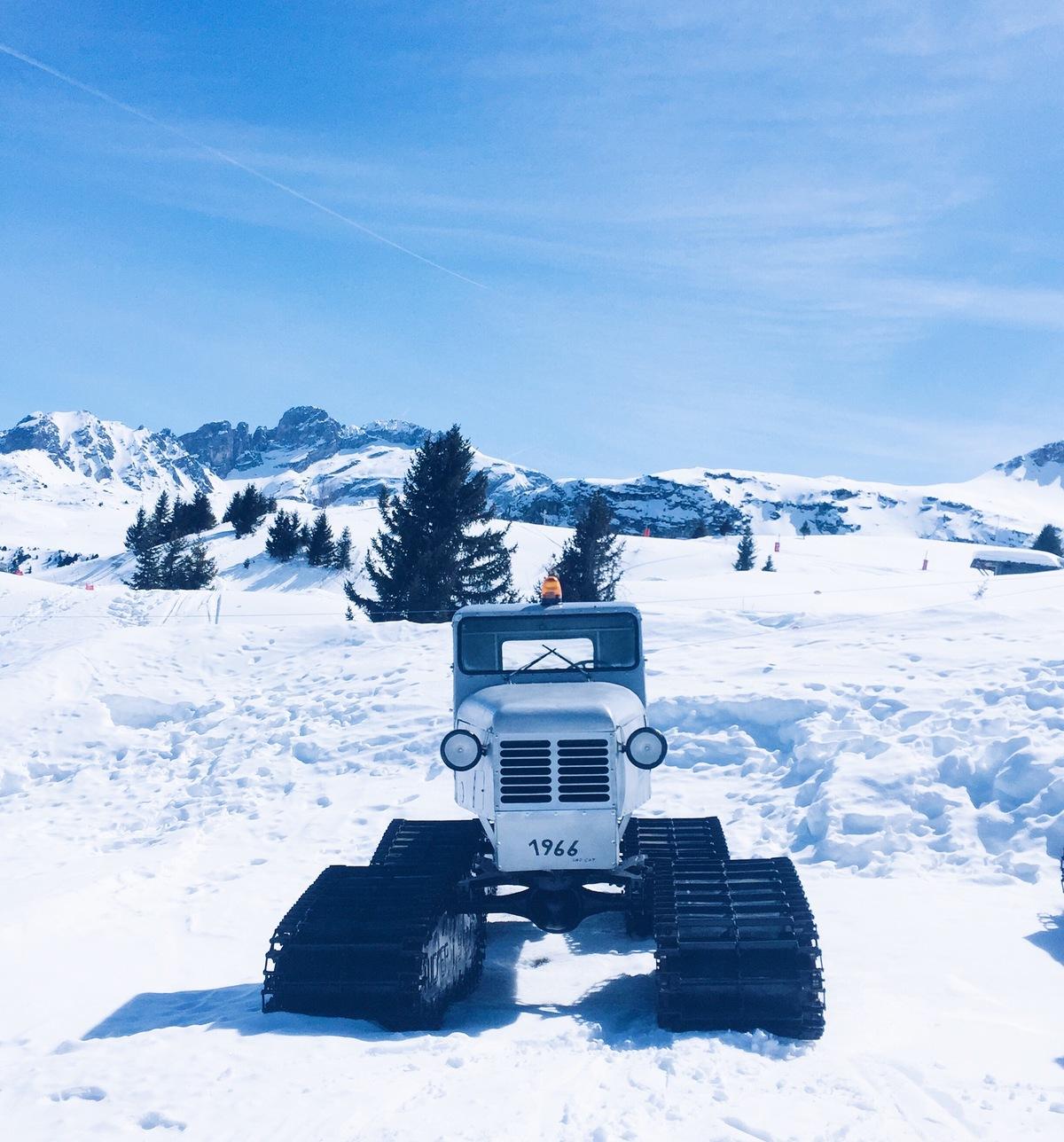 meribel old ski cat