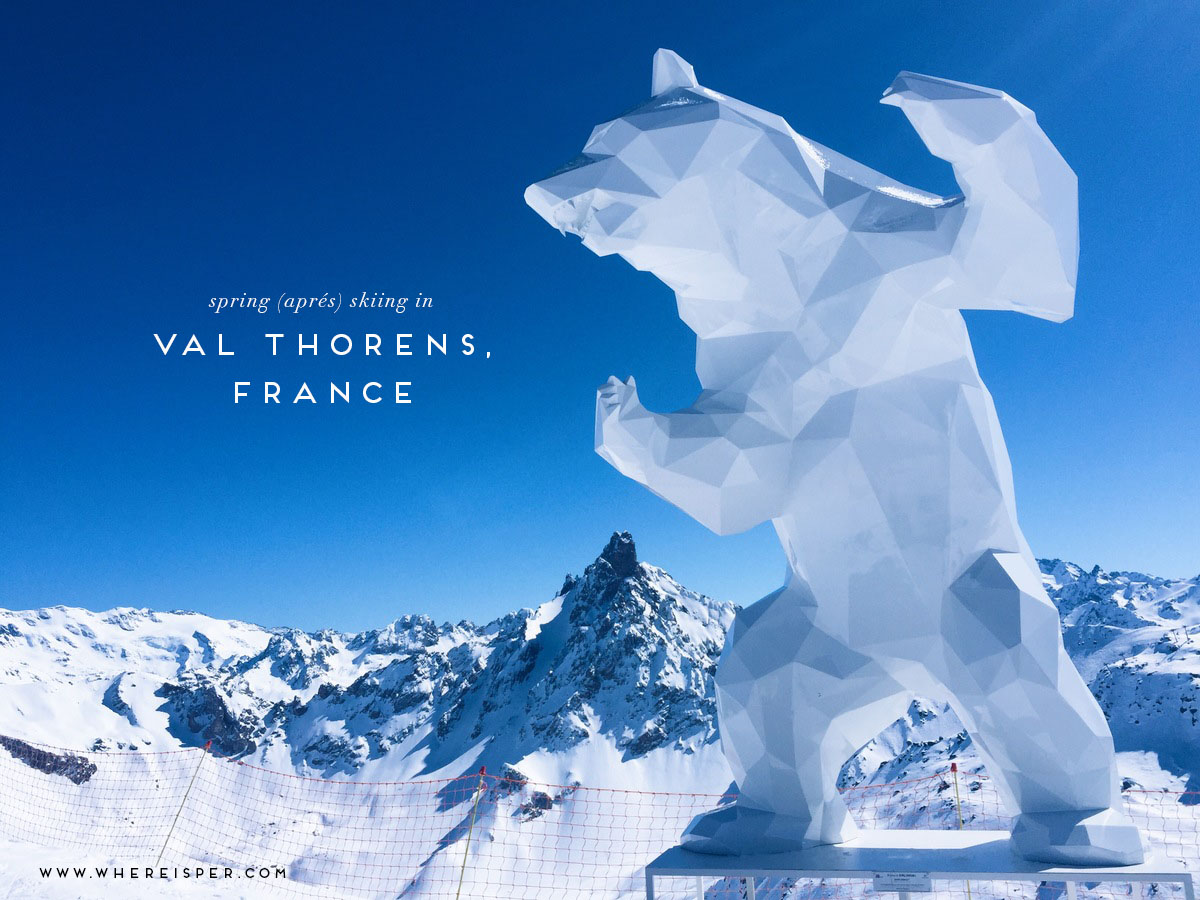 spring skiing val thorens where is per
