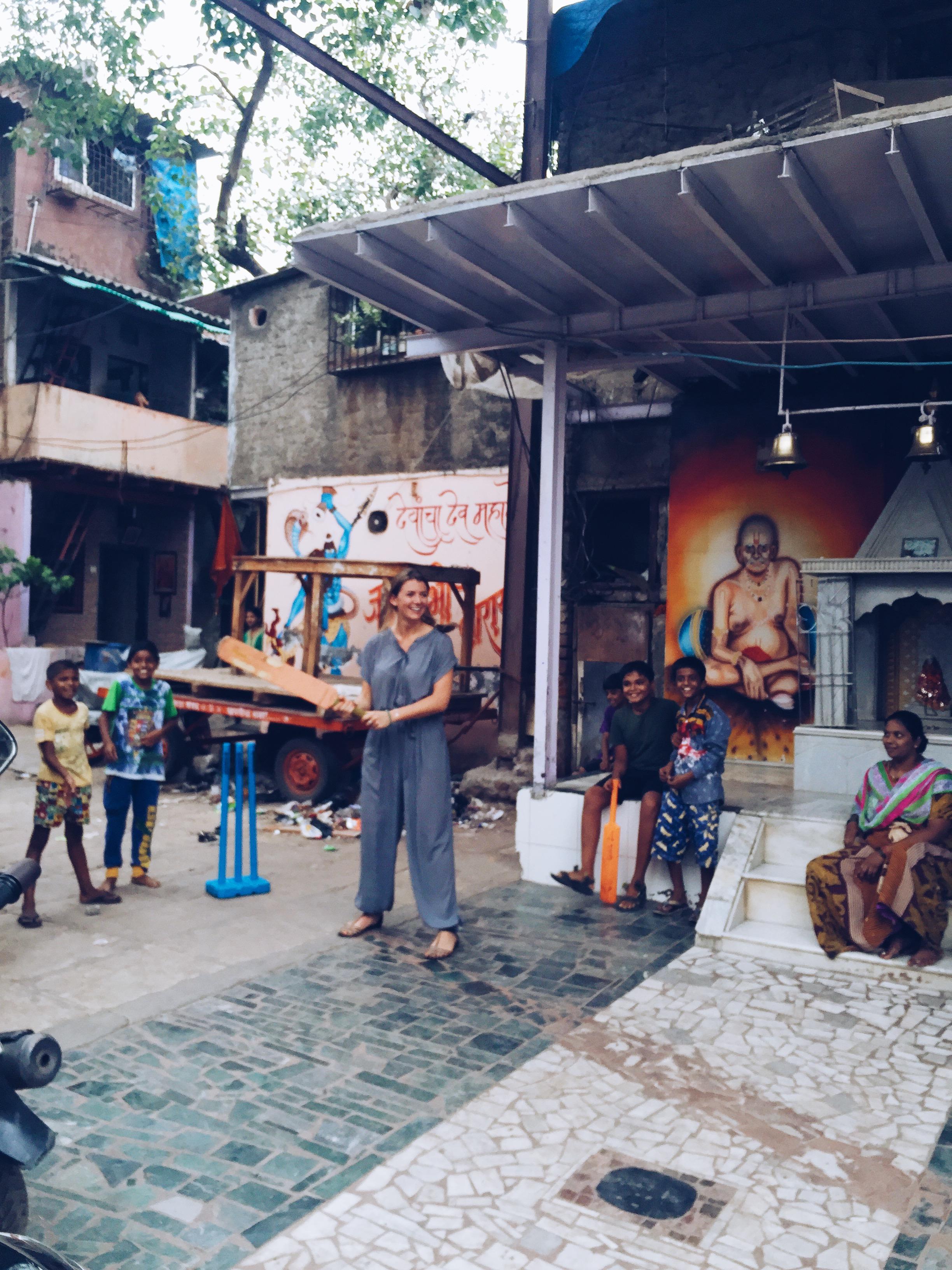 Cricket in Dhavari Slum