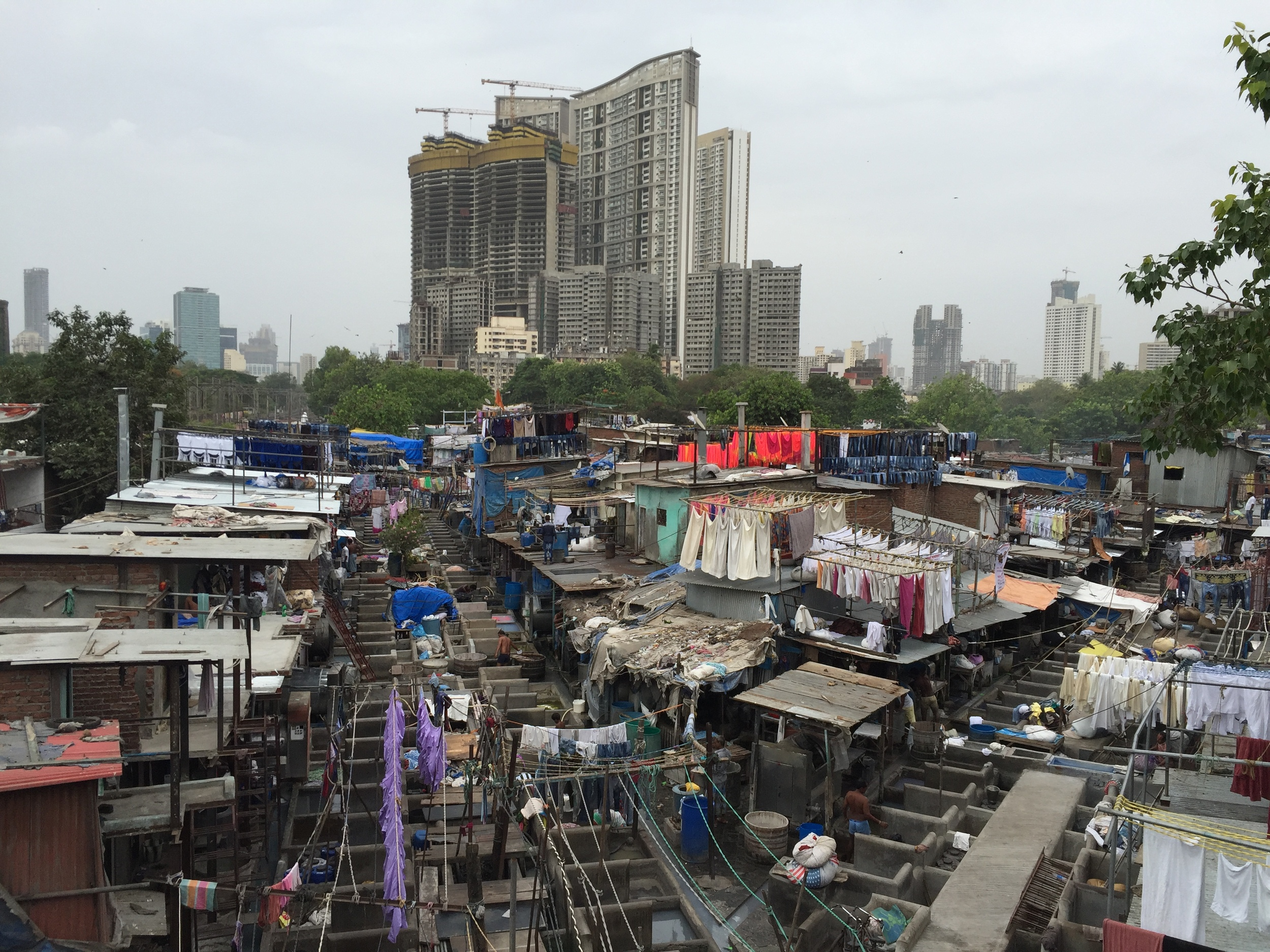 Dhobi Ghat from the overpass