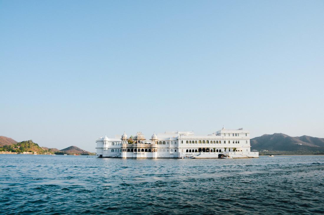 taj lake palace from the lake