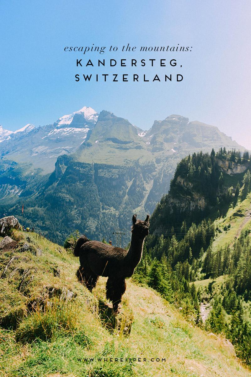Kandersteg, Switzerland Where is Per