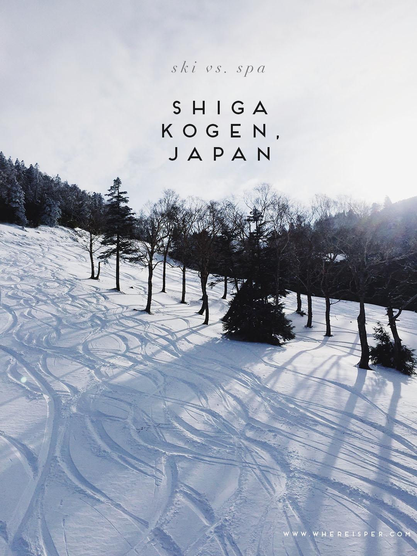 Skiing Shiga Kogen Japan