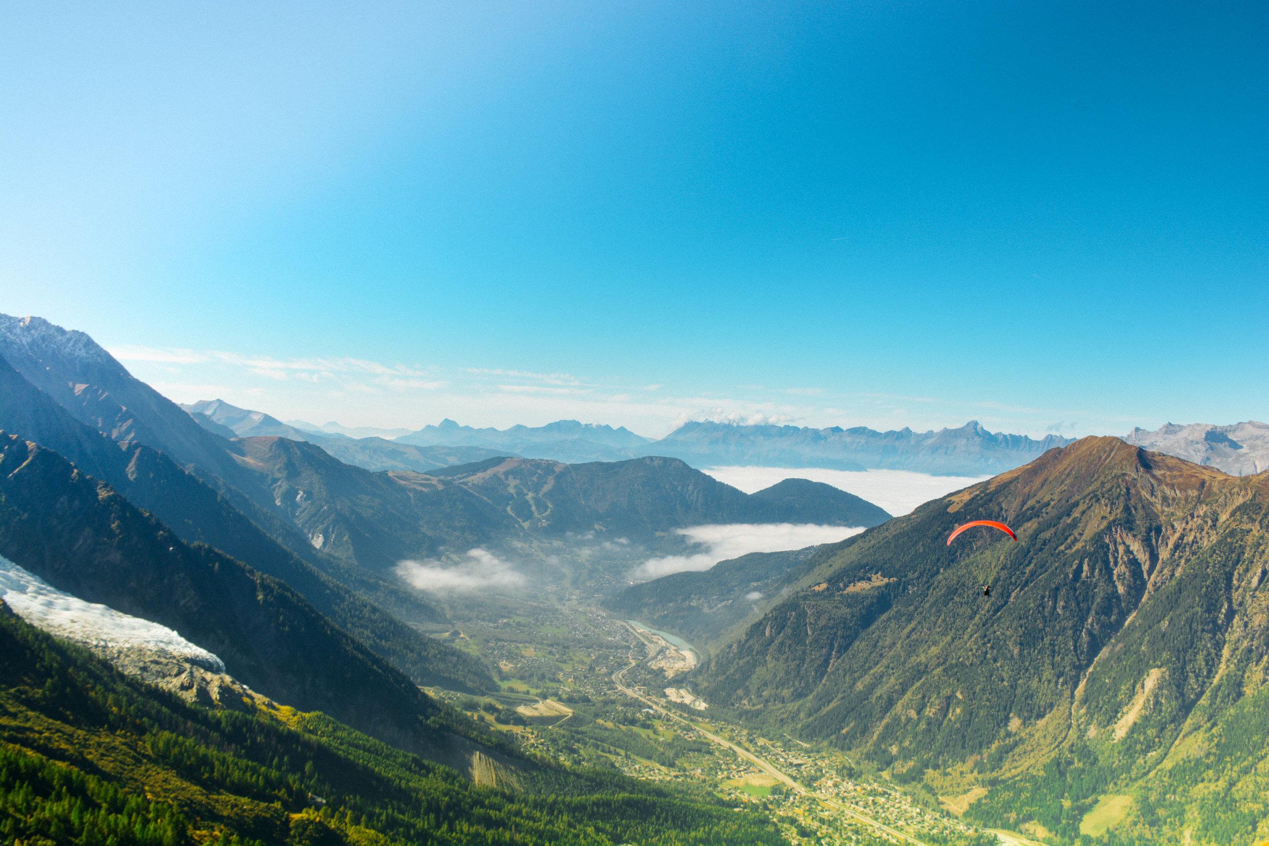 Paragliding in Chamonix, France