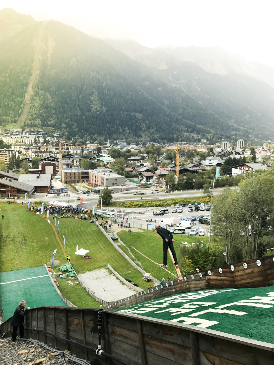 ski jumping chamonix