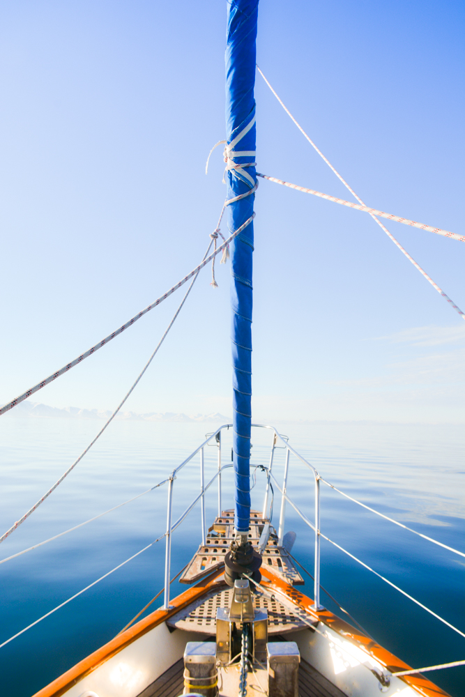 sailing in svalbard