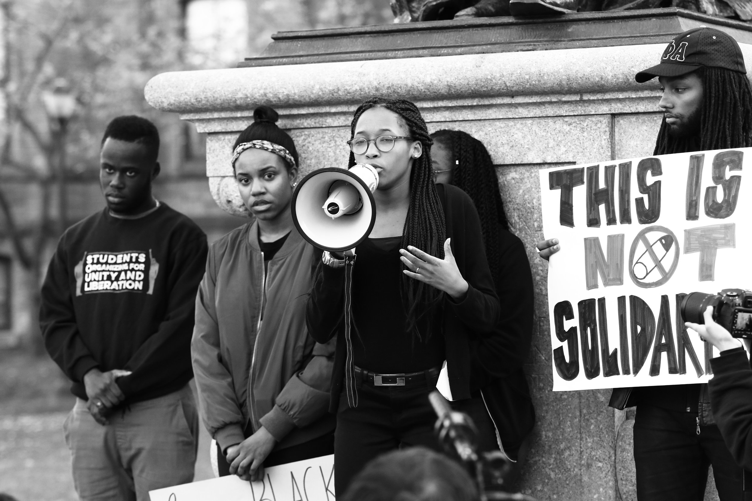 Student walkout in response to racial harassment at the University of Pennsylvania, organized by Students Organizing for Unity and Liberation. Photo credit: Charles H.F. Davis III, 2016