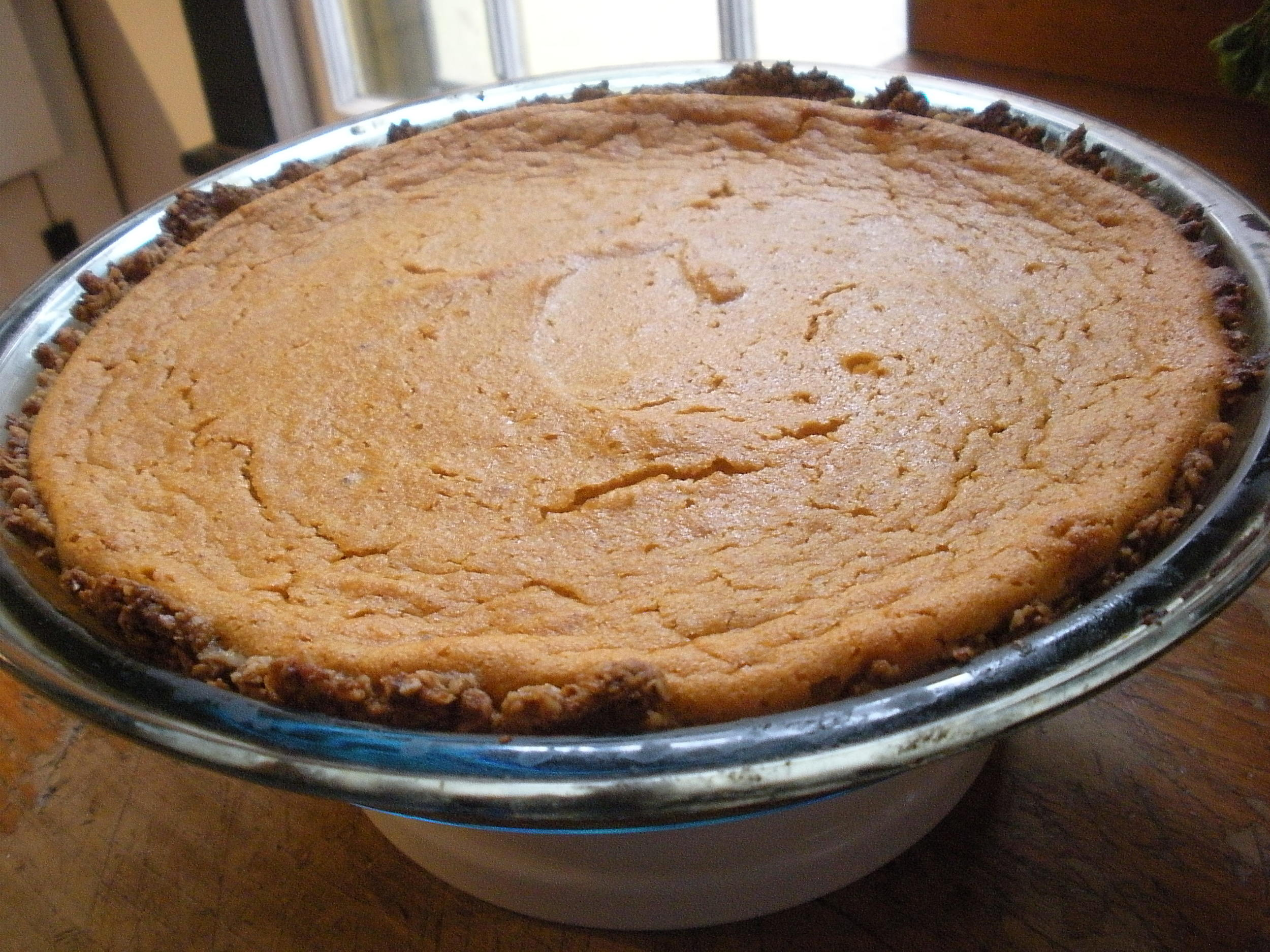 Sweet potato pie - nutritious and delicious. (November 2013, A.Gross)