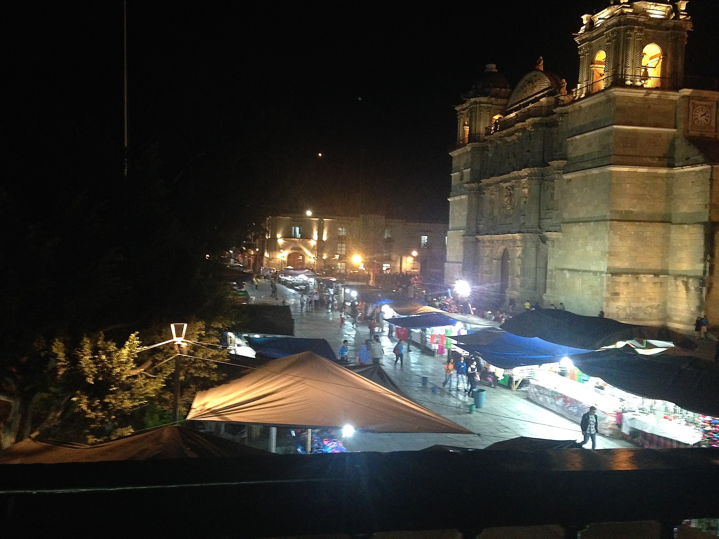 An evening in historic Oaxaca City