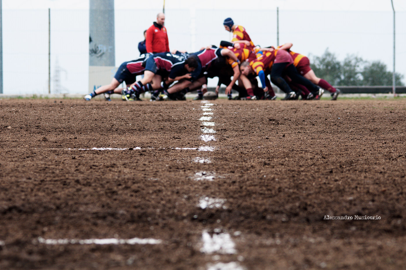 "This is how Scrum looks alike. Picture is called "" Frascati Rugby"" by f/orme taken from Flikr is licensed under CC BY 2.0"