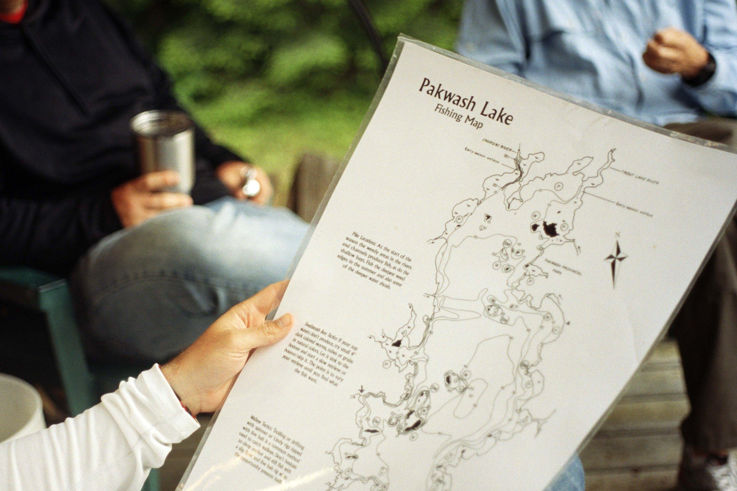 Pakwash Fishing Map, 2016