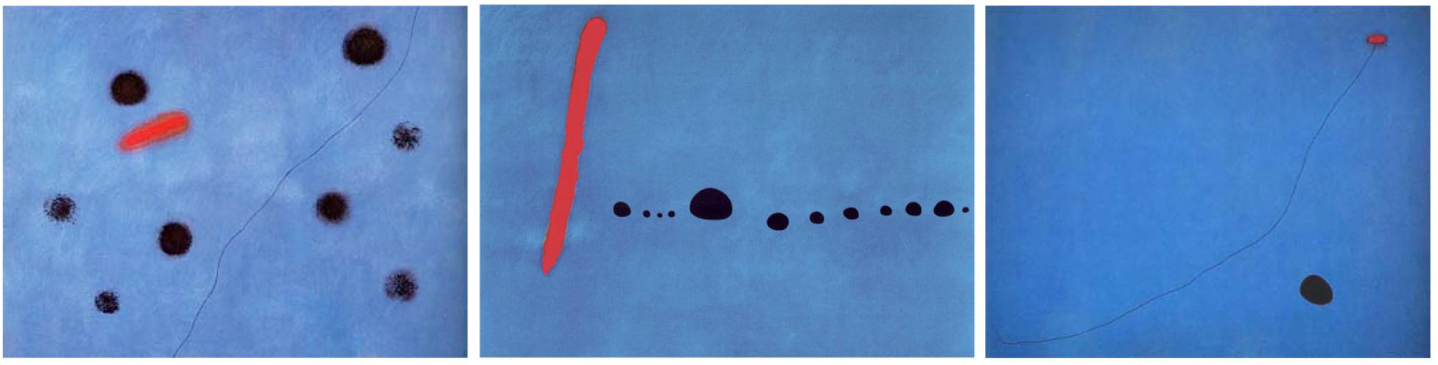 Joan Miro. (1961). Bleu I, II, III. Retrieved from The Pompidou.