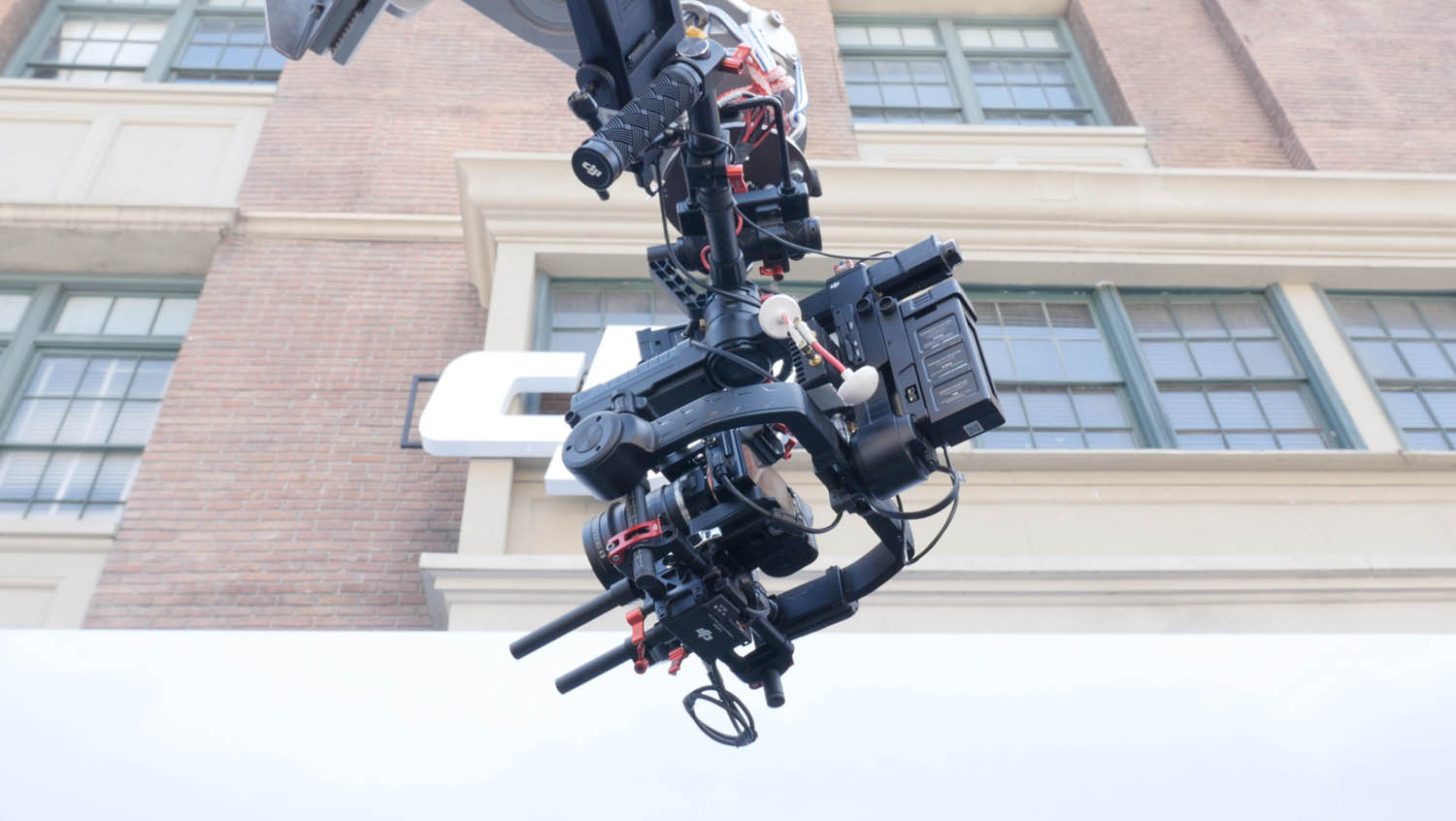 Mag 2880 holding the rig at the DJI cine gear 2016 booth