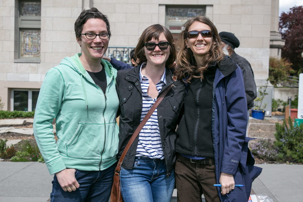 Emilie, Jamie and Shannon- part of the 2014 Hypha team.