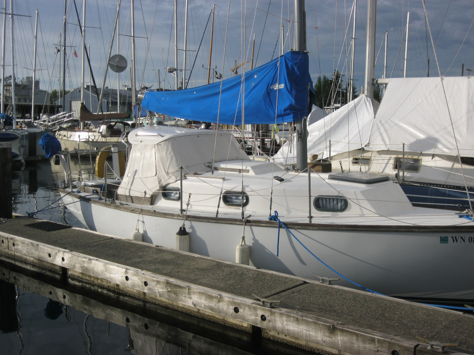 The Vicky Lee in Ballard before setting sail.