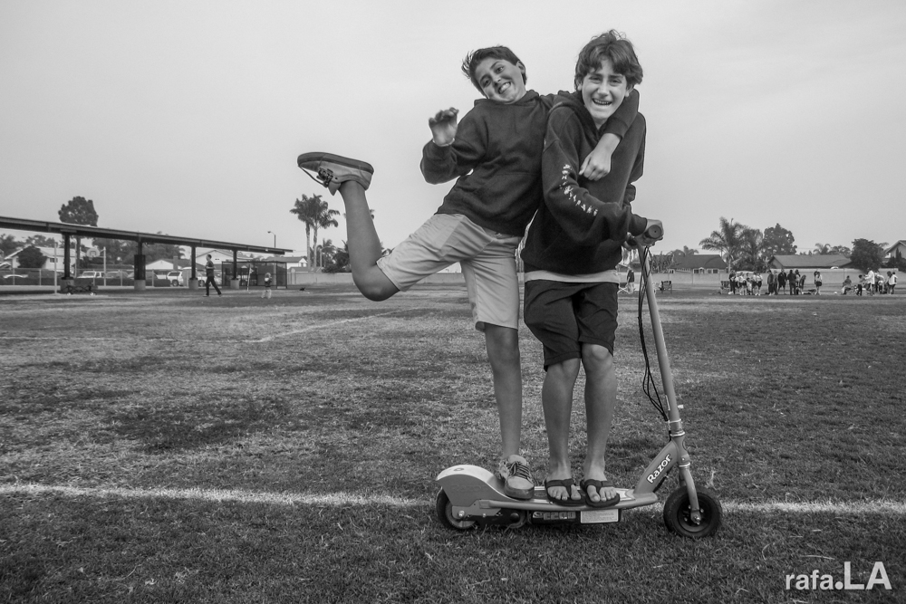 Power Scooter.  October 26, 2013 - Isaac Sowers Middle School, Huntington Beach