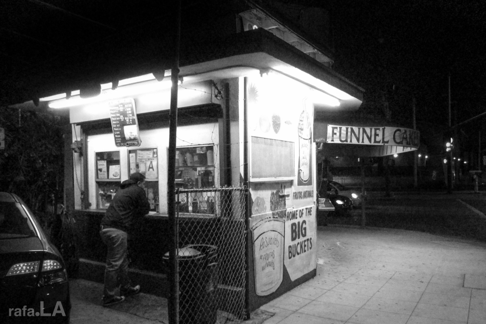 Funnel Cakes and Shaved Ice.  November 03, 2013 - Boyle Heights