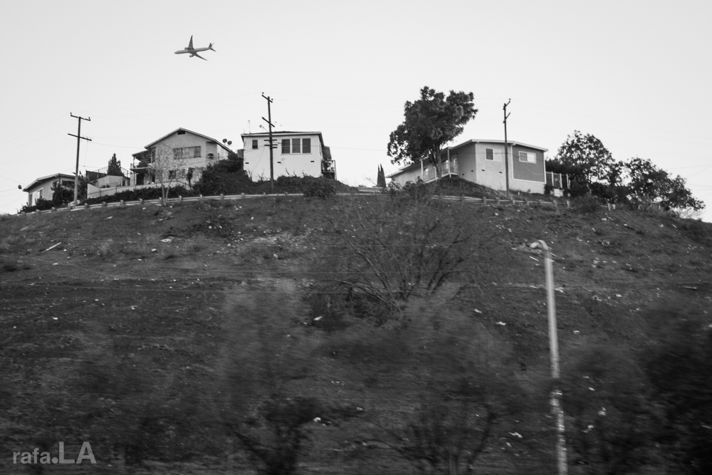 Hillside Fly Over.  December 04, 2013 - City Terrace from 10 Freeway