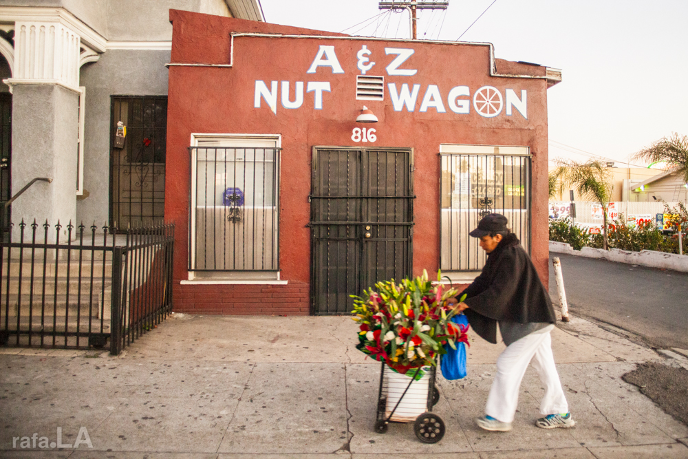 Nut Wagon and Flower Wagon  January 15, 2014 - Lorena and Whittier, Boyle Heights