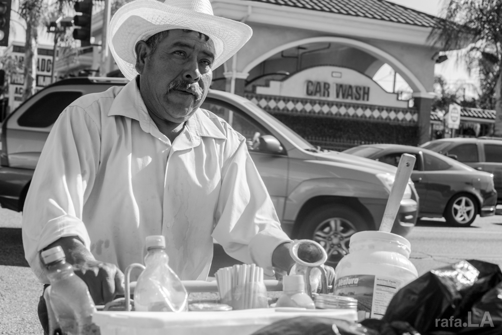Elotero.  April 12, 2014 - Cesar Chavez Ave., East Los Angeles