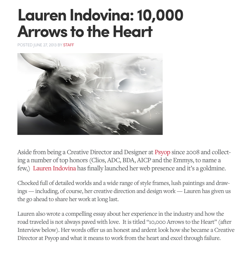 THE ART DIRECTORS CLUB  / 10,000 ARROWS TO THE HEART