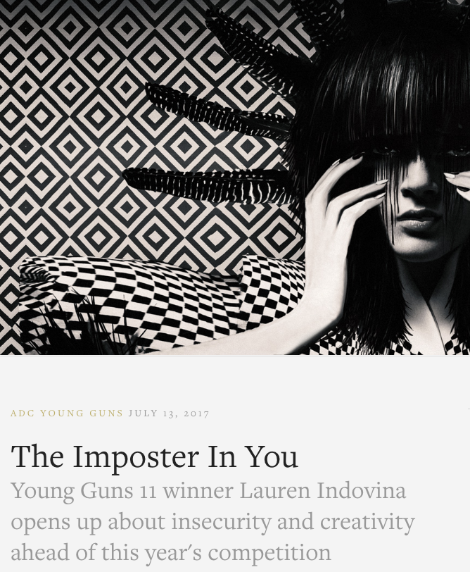 THE ART DIRECTORS CLUB /  THE IMPOSTER IN YOU