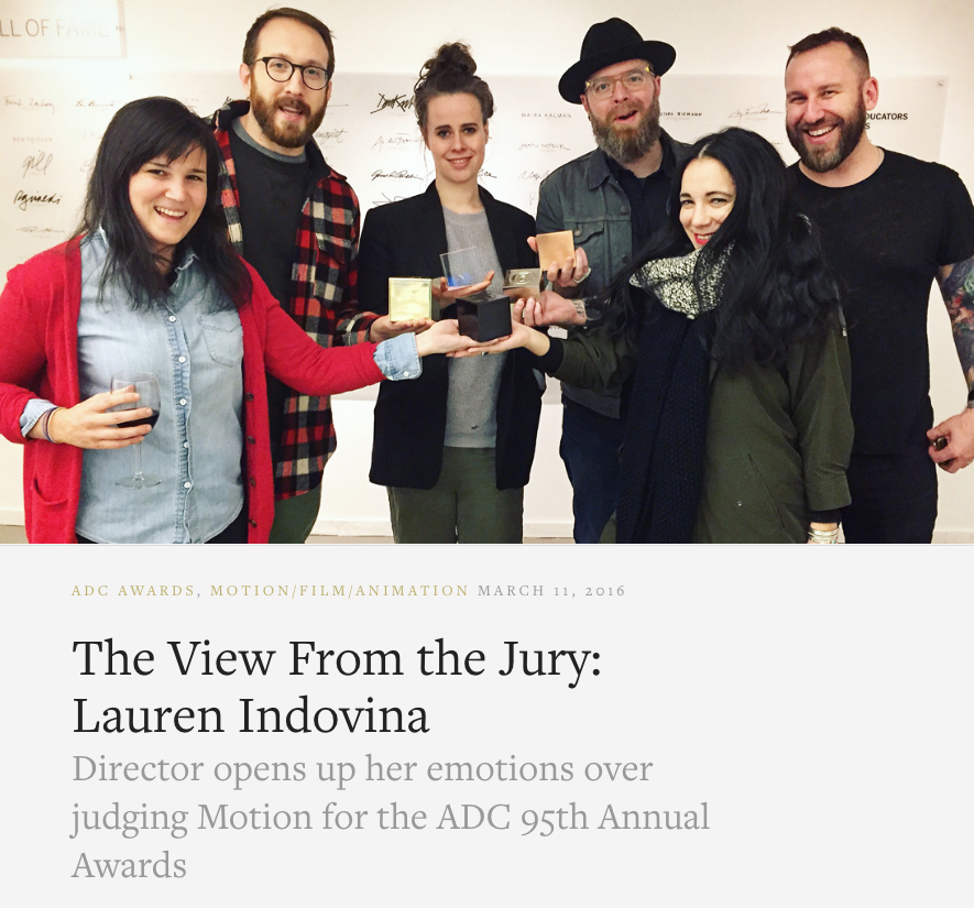 THE ART DIRECTORS CLUB /  A VIEW FROM THE JURY