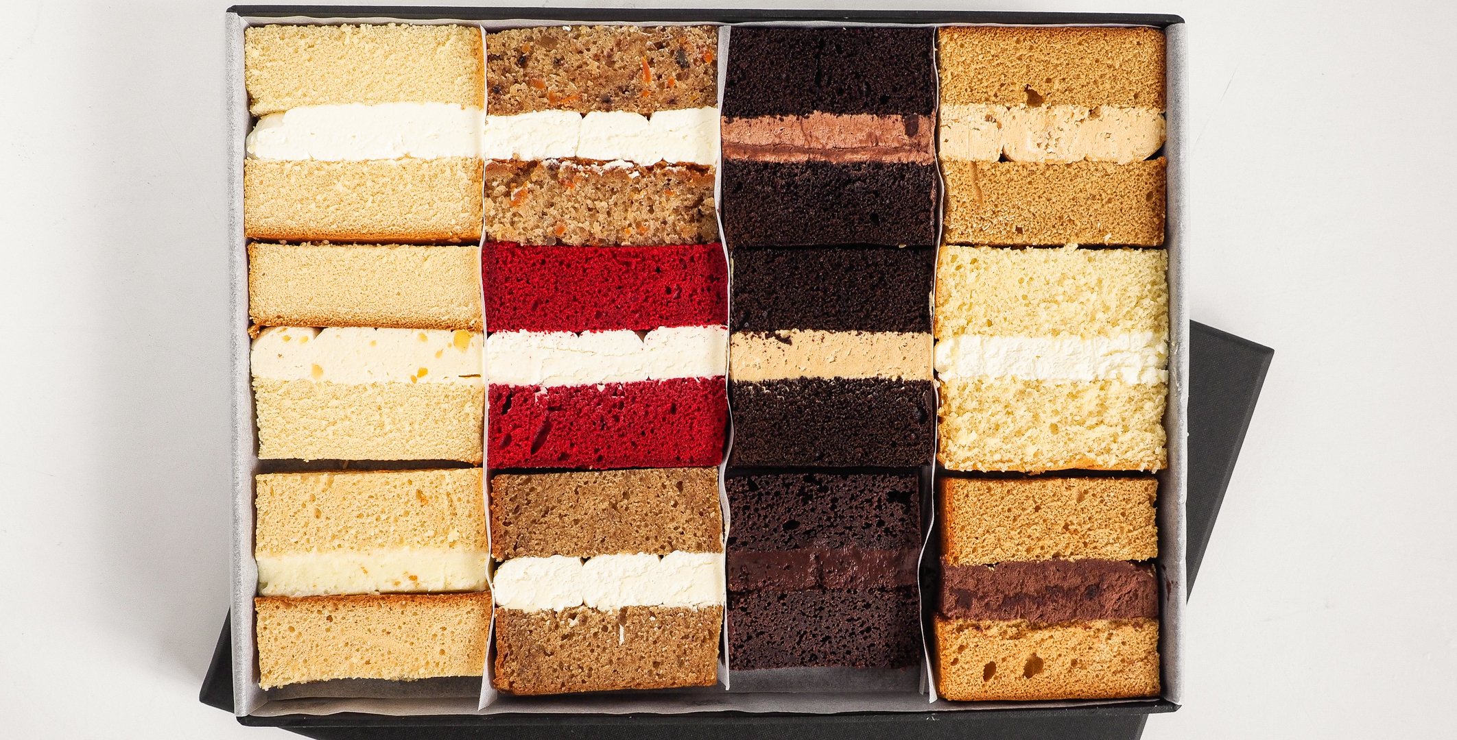 Image: Our cake tasting pack, the most enjoyable way to choose your favourite cake flavour.