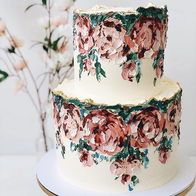"""I created our first """"Hanging Gardens"""" design in March last year as part of our still life series and since then this post has been our most shared, liked, saved & recreated cake of all! Thanks for all the love shown to this banger - more to come ✌🏾🖤 Kat"""