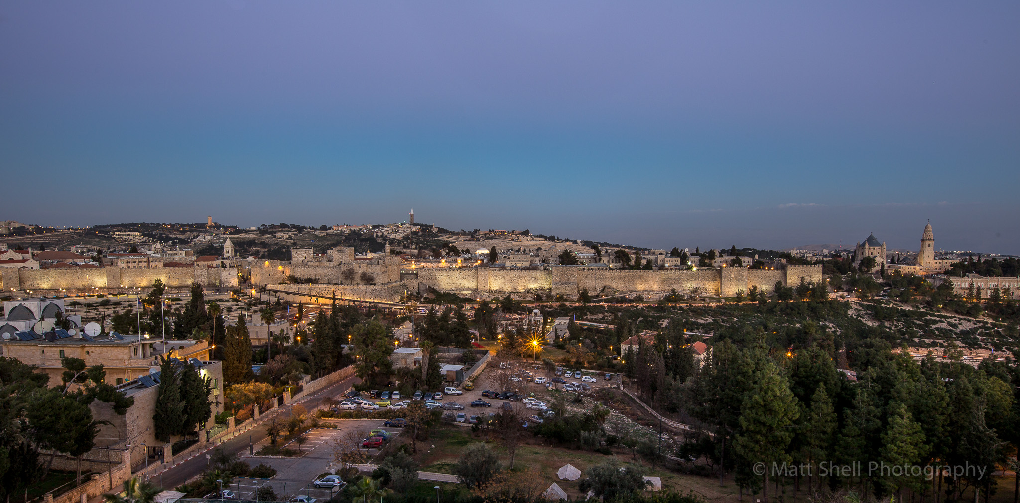 """The Old City looks rest at night, but my favorite time of the day for shooting photos of it was right before the sun went down. The elusive """"golden hour"""" makes for a rich and colorful photo."""