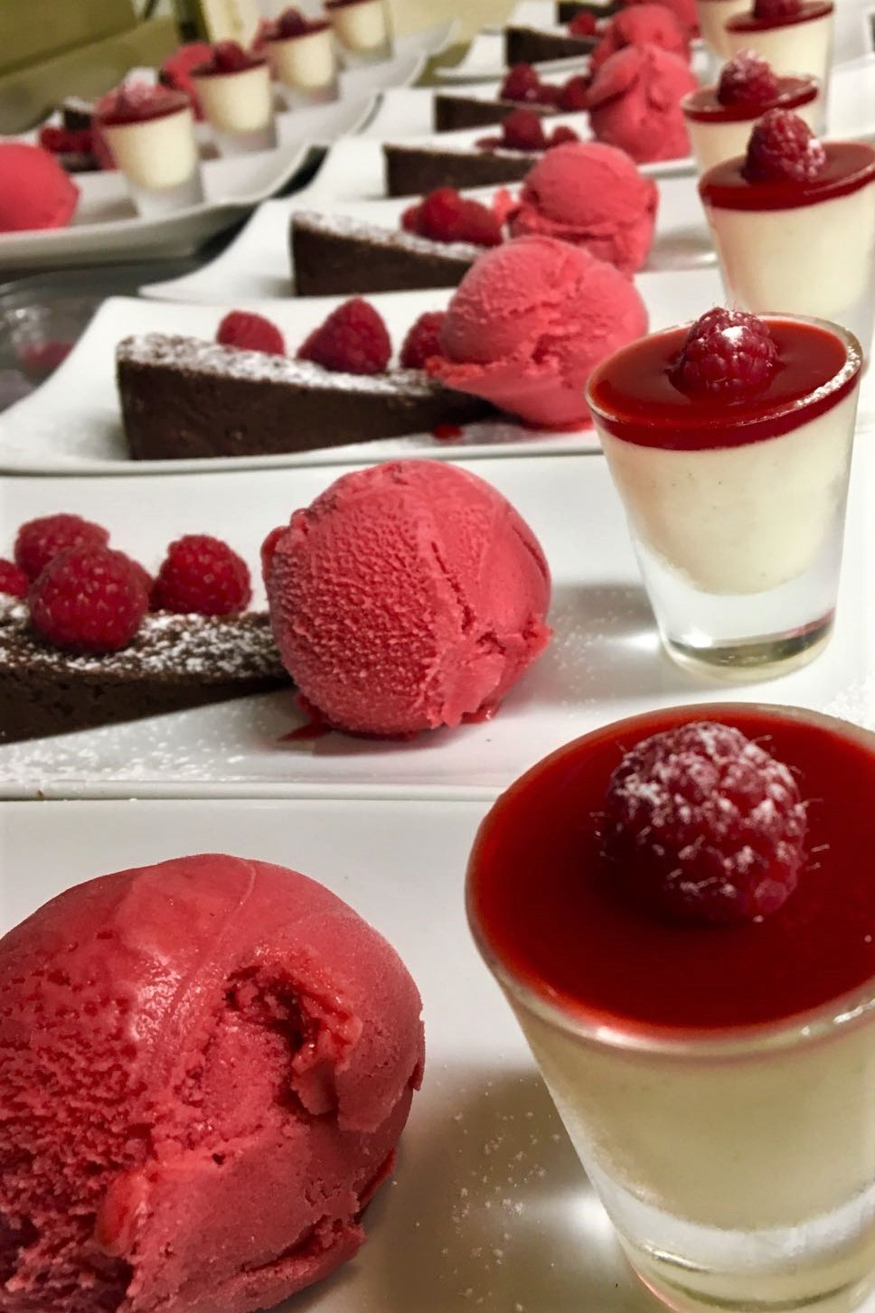 Panna Cotta Taster with Raspberry