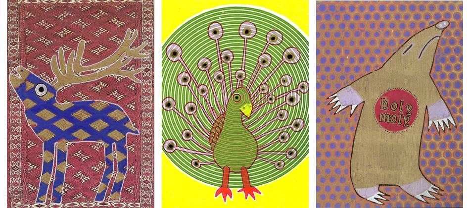 Postkartenserie Tiere
