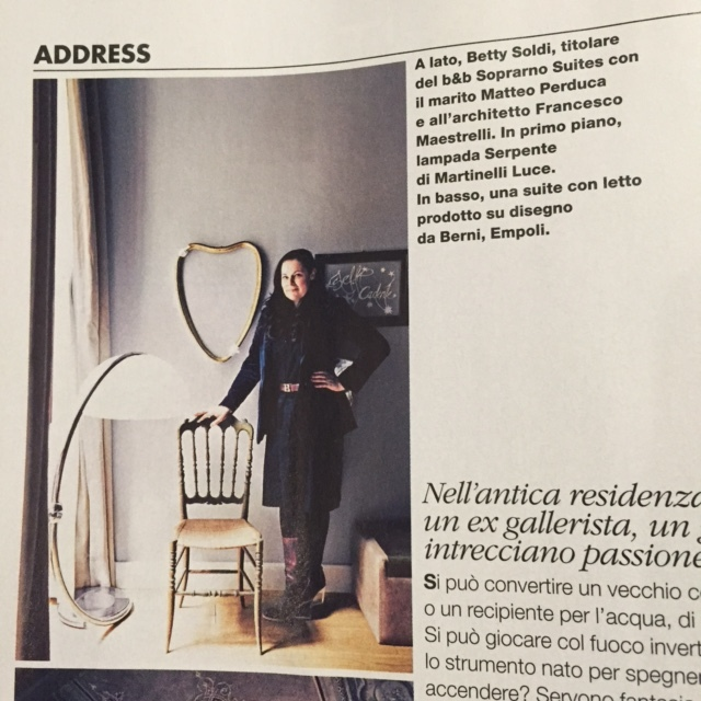 SoprArno Suites, ELLE DECOR ITALIA 2015