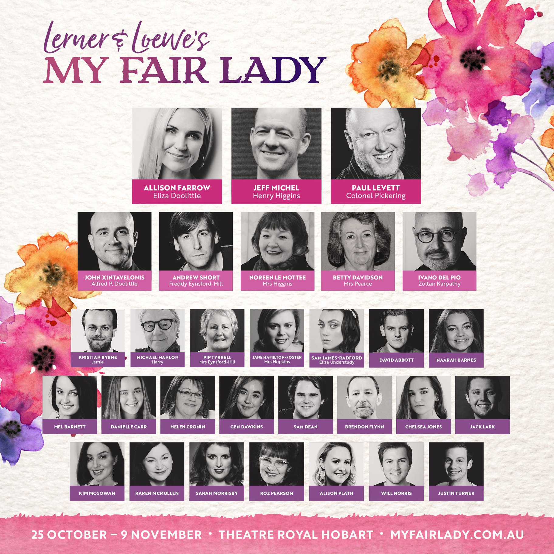 Can you spot our TC Vocal students? Bijou Creative is thrilled to announce our fabulous My Fair Lady cast!  Tickets  now available through the Theatre Royal. Rehearsals have started and it promises to be a 'loverly' night at our beautiful theatre.