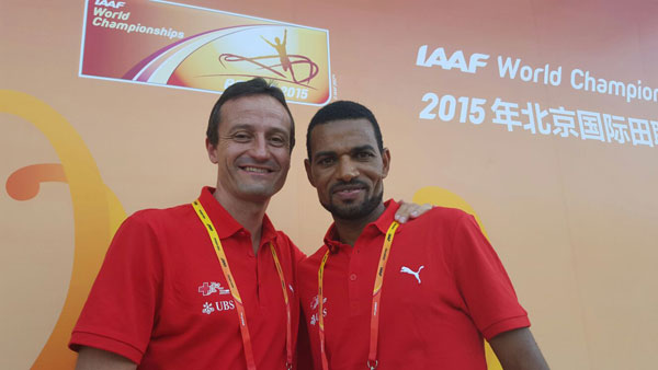mit Christoph Seiler, Präsident Swiss Athletics