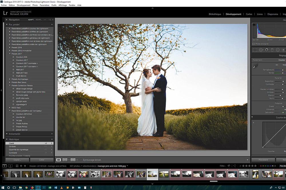 Editing de vos images - Sélection des photos, retouche du cadre, des couleurs, des contrastes et des lumières, passage en noir et blanc... il y a de quoi passer pas mal de temps devant son écran !