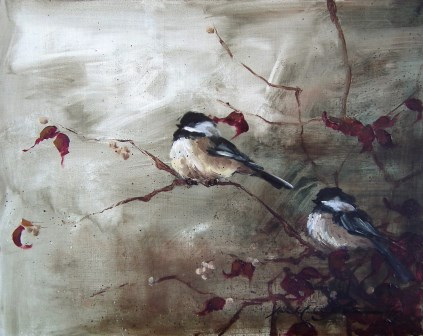 Fall Chickadee Pair