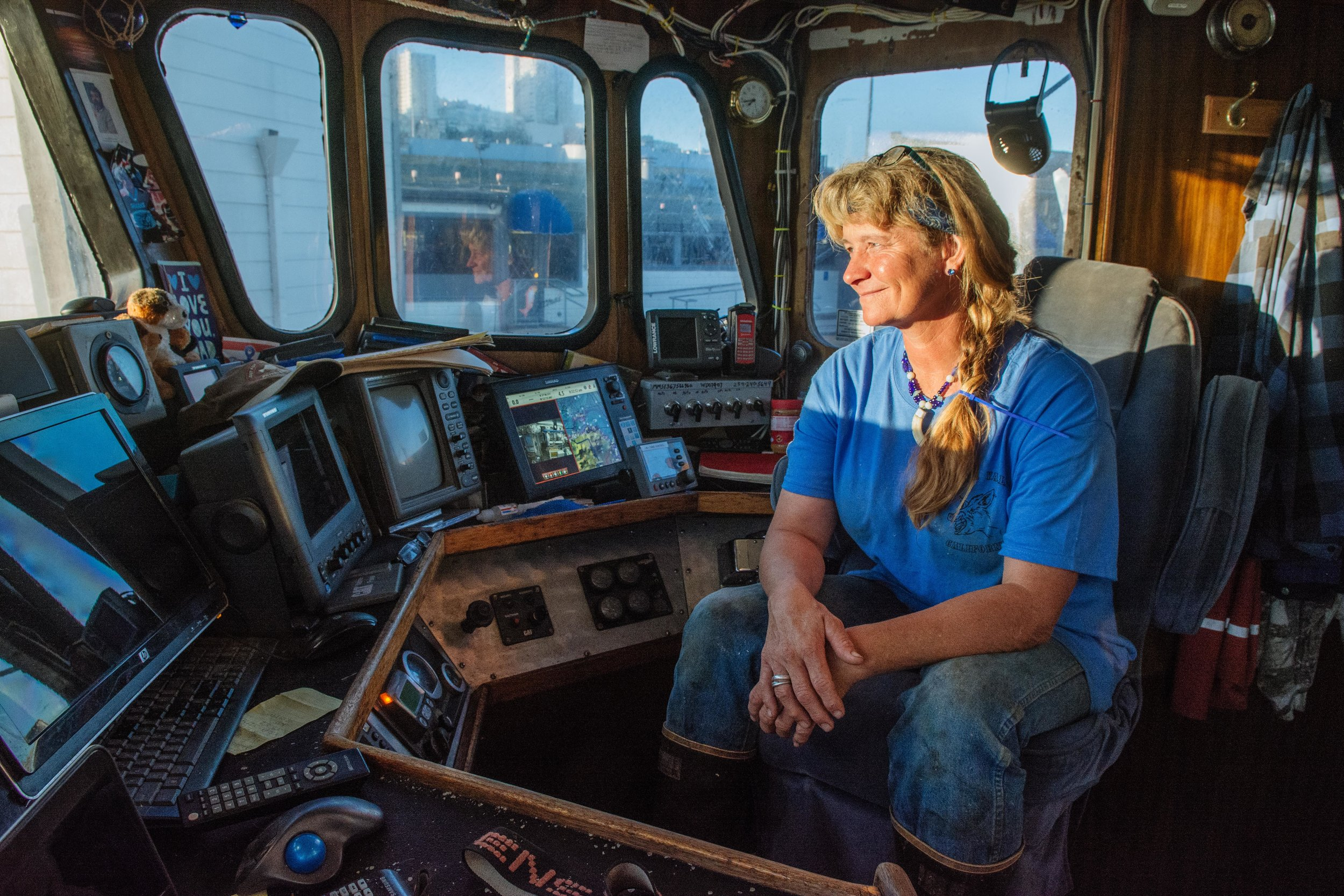 Joleen Skinner, a crew member on the Pioneer is hearing impaired and sets an incredible standard of work ethic on the Pioneer.