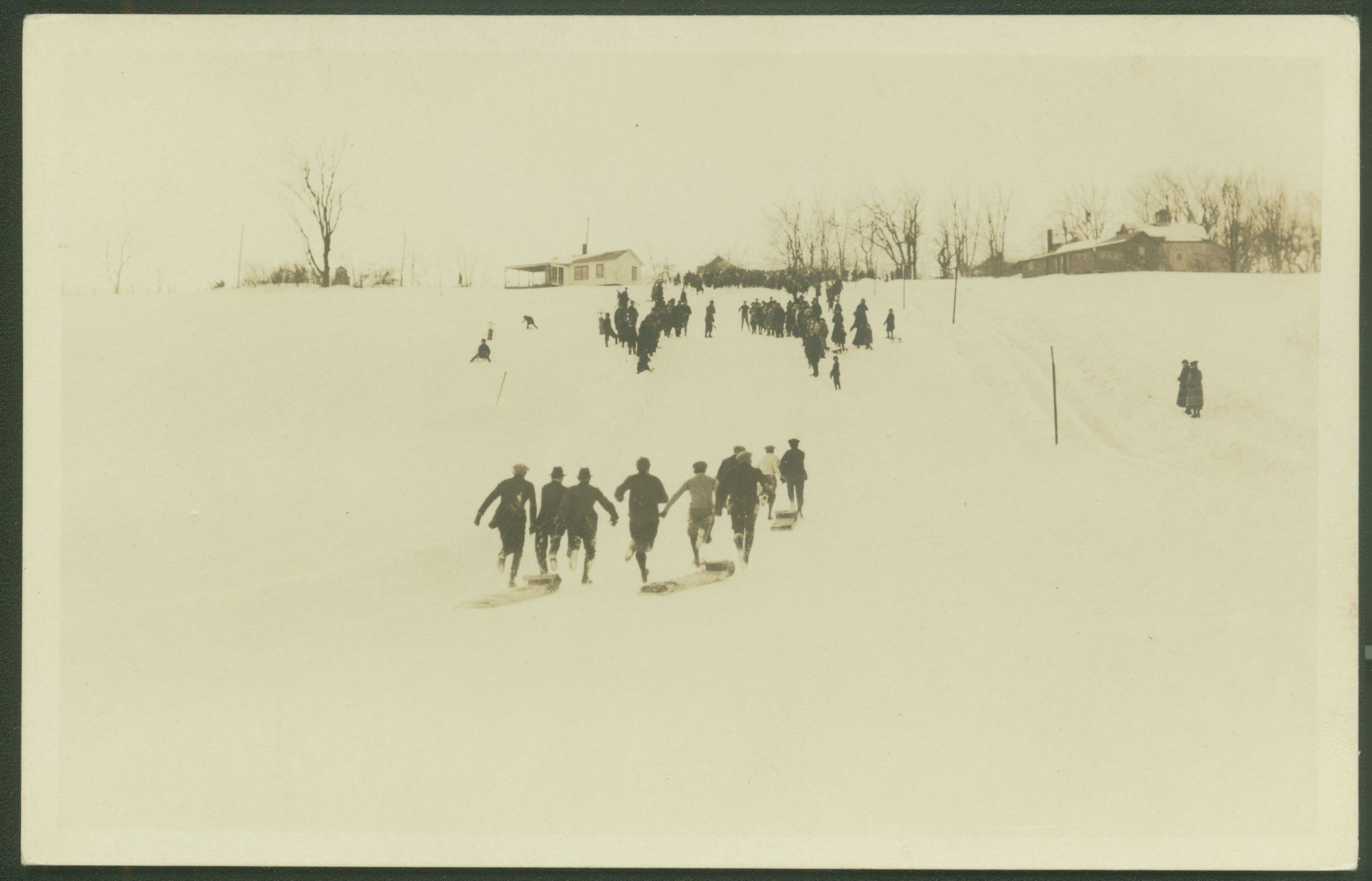 Toboggan run, Litchfield.   Collection of the Litchfield Historical Society, Litchfield, Connecticut
