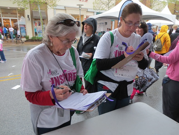 Race attendees who volunteered their tear samples completed a consent form and a brief questionnaire before their tears were collected.